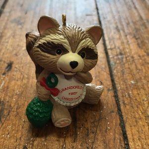 Hallmark grandchild's first Christmas ornament